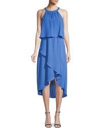 Saks Fifth Avenue Asymmetrical Popover Midi Dress - Pink