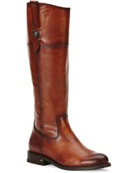 Frye Jayden Button Leather Boots - Brown