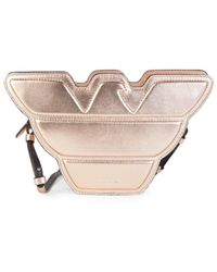 Emporio Armani Eagle Leather Shoulder Bag - Pink