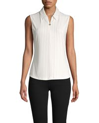 Tommy Hilfiger Dash Stripe Sleeveless Top - White