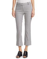 Derek Lam Striped Cropped Trousers - Multicolour