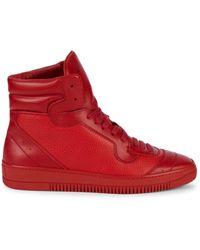 John Galliano Men's High-top Leather Sneakers - Black - Size 10