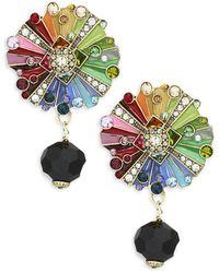Heidi Daus Multicolour Rhinestone & Crystal Colour Wheel Drop Earrings