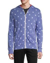 Alternative Apparel Star-print Hoodie - Blue