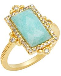 Freida Rothman - Amazonian Sterling Silver & Crystal Solitaire Ring - Lyst