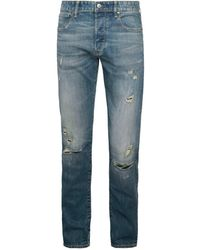 G-Star RAW Men's 3301 Slim-fit Distressed Jeans - Faded Ripper - Size 32 32 - Blue