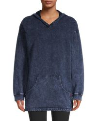Hard Tail Women's Stone Washed Hoodie - Blue