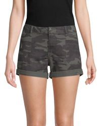 Sanctuary - Camouflage Distressed Denim Shorts - Lyst