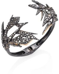Alexis Bittar - Crystal-encrusted Origami Cuff Bracelet - Lyst