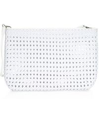 Elizabeth and James Woven Pouch - White
