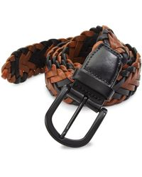 Saks Fifth Avenue Collection Braided Belt - Multicolour