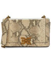 Sam Edelman Women's Mini Dottie Snakeskin-print Leather Crossbody Bag - Wheat Multi - Natural