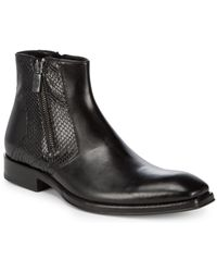Jo Ghost - Leather Zip Boots - Lyst
