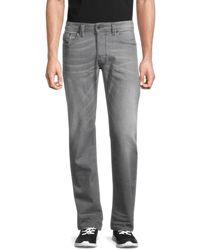 DIESEL Men's Larkee Regular-fit Straight-leg Jeans - Grey - Size 30