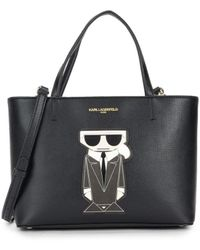 Karl Lagerfeld Small Maybelle Tote - Black