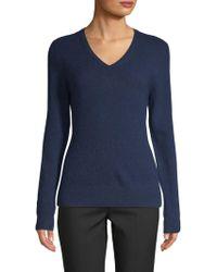 Saks Fifth Avenue - V-neck Cashmere Sweater - Lyst