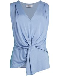 Bailey 44 Amber Knotted Tank Top - Blue