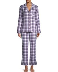 UGG - Raven Two-piece Plaid Cotton Pyjamas - Lyst
