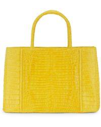 Nancy Gonzalez Crocodile Leather Top Handle Bag - Yellow
