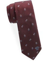 Versace - Geometric Square Silk Tie - Lyst