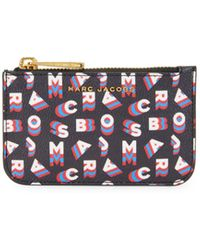 Marc Jacobs Printed Keychain Pouch - Black
