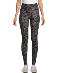 Kendall + Kylie Soft Leopard-print Leggings - Grey
