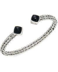 John Hardy Classic Chain Sterling Silver & Black Onyx Flex Cuff Bracelet - Multicolour