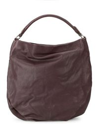 Liebeskind Berlin Debossed Logo Leather Hobo Bag - Multicolour