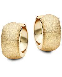 Saks Fifth Avenue 14k Yellow Gold Hoop Earrings - Multicolour