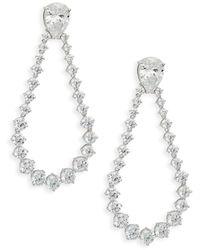 Adriana Orsini Women's Crystal Drop Earrings - Metallic