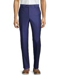 Saks Fifth Avenue Birdseye Print Pants - Blue