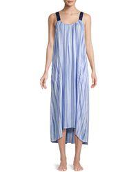 Donna Karan Stripe Nightgown - Blue