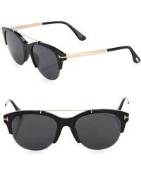 Tom Ford - Adrenne 55mm Round Sunglasses - Lyst