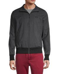 Y-3 Men's Full-zip Logo Track Jacket - Dark Gray - Size M