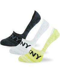 DKNY 3-pack Logo Foot Socks - Multicolour