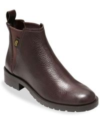 Cole Haan - Calandra Leather Ankle Boots - Lyst