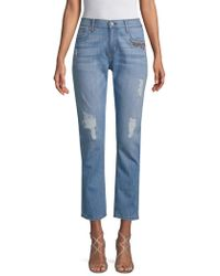 ei8ht dreams - Embroidered Floral Jeans - Lyst