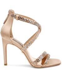 Badgley Mischka Women's Zendaya Satin Stiletto Sandals - White - Size 7
