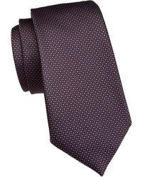 Emporio Armani Micro Dotted Silk Tie - Purple