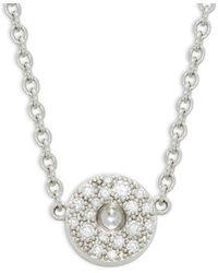 Roberto Coin Women's 18k White Gold & Diamond Pendant Necklace - Metallic