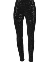 Memoi Women's Glorious Sequin Leggings - Black - Size M/l