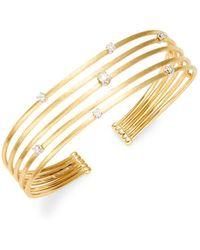 Marco Bicego - Luce 18k Yellow Gold, White Gold & Diamond Cuff Bracelet - Lyst