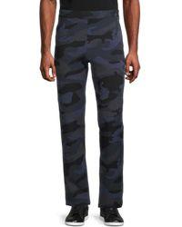Valentino Men's Camo-print Drawstring Trousers - Navy - Size S - Blue