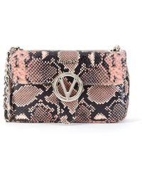 Valentino By Mario Valentino - Poisson Python-embossed Leather Crossbody Bag - Lyst