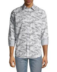 Robert Graham Classic-fit Graphic Shirt - Grey