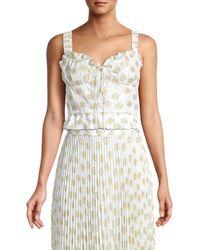 DELFI Collective Women's Amore Floral Cropped Top - White Multicolour - Size S