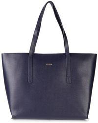 Furla Women's Paradise Leather Tote - Ocean - Black