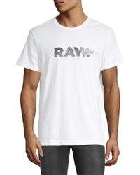 G-Star RAW - Short-sleeve Cotton Tee - Lyst