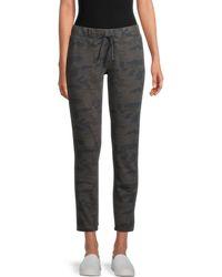 James Perse Camo-print Cotton Jogger Pants - Black