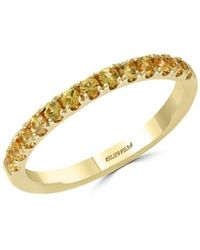 Effy Women's 14k Yellow Gold & Yellow Sapphire Ring/size 7 - Size 7 - Metallic